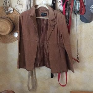 Tan authentic leather rampage jacket medium